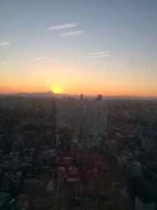 六本木ヒルズからのマウント富士
